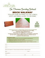 Brick Walkway Donation